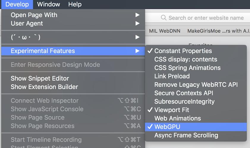 Enabling WebGPU on macOS 10 13 High Sierra — MIL WebDNN 1 2